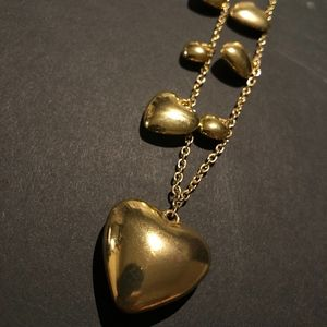 Golden Hearts Necklace